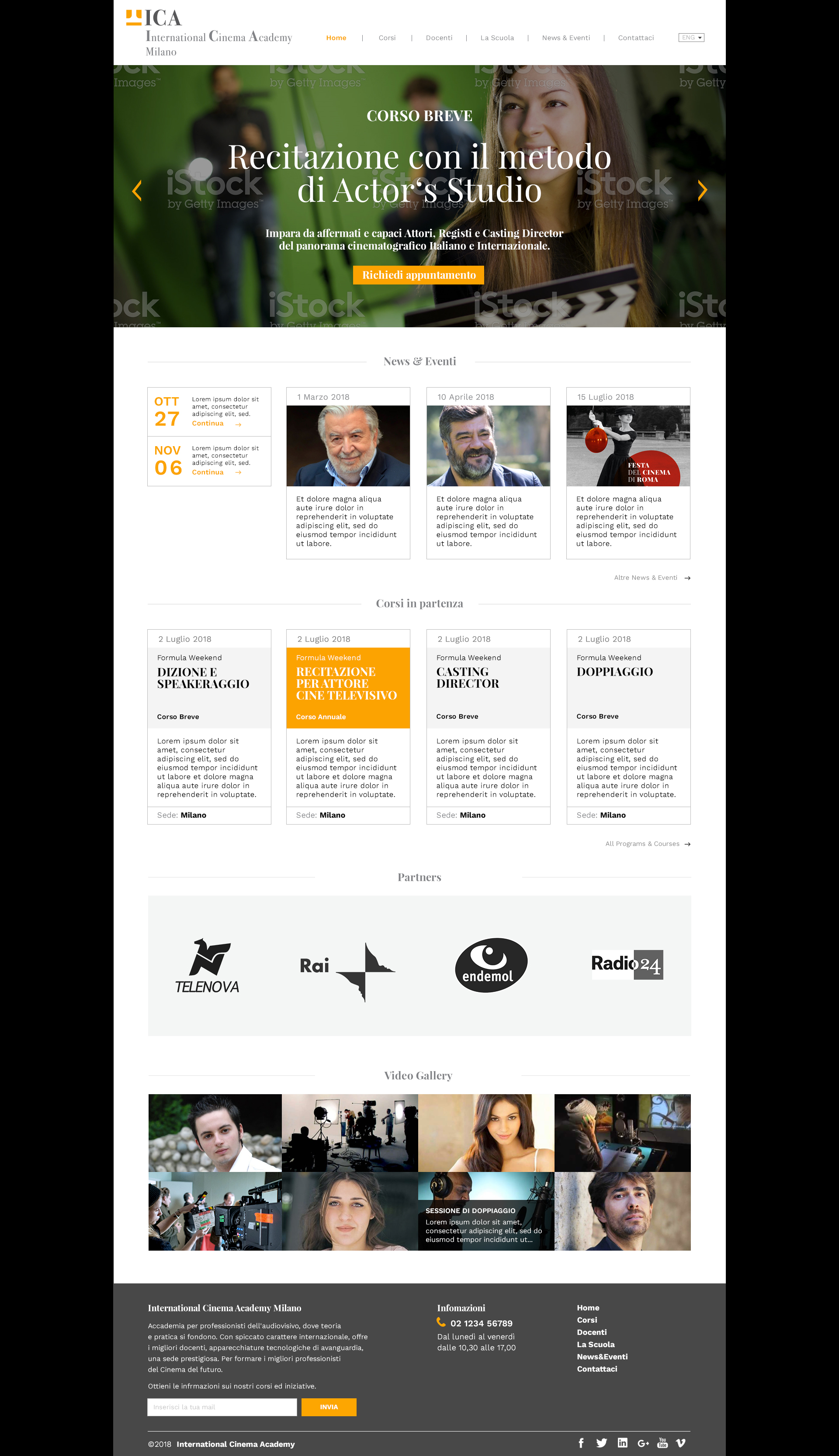 International Cinema Academy Milano Homepage